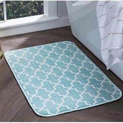 Witte Moroccan Tile Seafoam Foam Core Bath Rug Size: 24 W x 36 L
