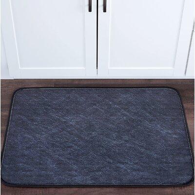 Crumpler Slate Foam Core Bath Rug Size: 24 W x 36 L