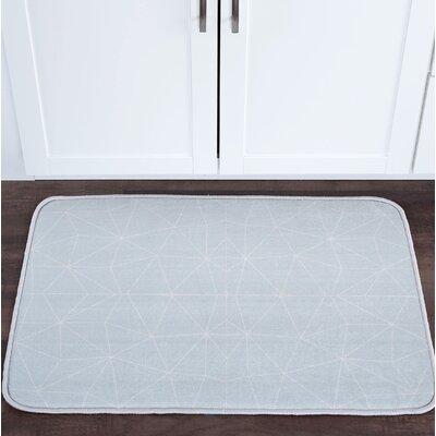 Knepp Facet Seafoam Foam Core Bath Rug Size: 24 W x 36 L
