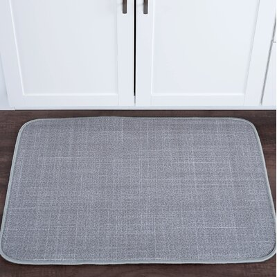 Drumavoley Linen Foam Core Bath Rug Size: 20 W x 30 L