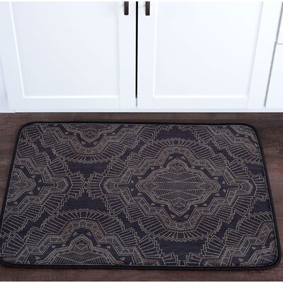 Faya Filigree Foam Core Bath Rug Size: 24 W x 36 L