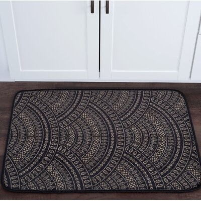 Faya Fish Scales Foam Core Bath Rug Size: 24 W x 36 L