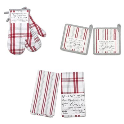 Plaid'N Patch 6 Piece Potholder Set Color: Red 71600