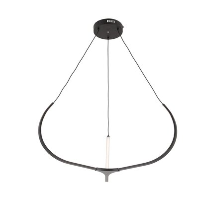 Pavilion LED Geometric Pendant Finish: Black