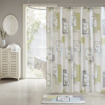 Flatt Faith, Hope, Love 100% Cotton Shower Curtain