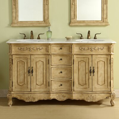 Meriden 60 Double Bathroom Vanity Set