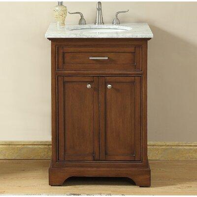 Darry 24 Single Bathroom Vanity Set Base Finish: Teak