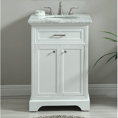 Darry 24 Single Bathroom Vanity Set Base Finish: White
