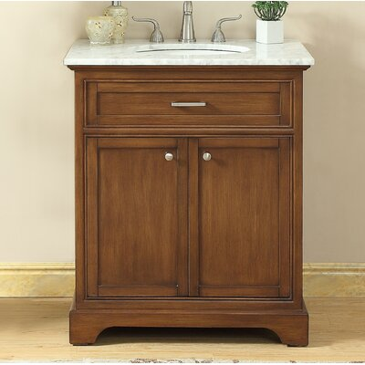 Darry 30 Single Bathroom Vanity Set Base Finish: Teak