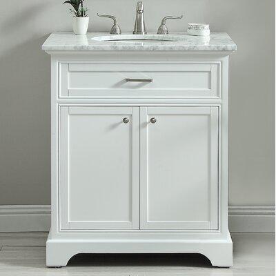 Darry 30 Single Bathroom Vanity Set Base Finish: White