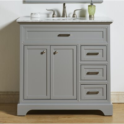 Darry 36 Single Bathroom Vanity Set Base Finish: Light Gray