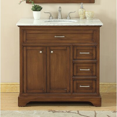 Darry 36 Single Bathroom Vanity Set Base Finish: Teak