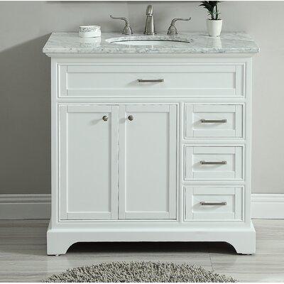 Darry 36 Single Bathroom Vanity Set Base Finish: White