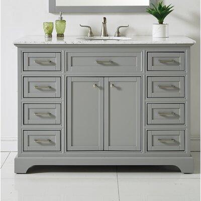 Darry 48 Single Bathroom Vanity Set Base Finish: Light Gray