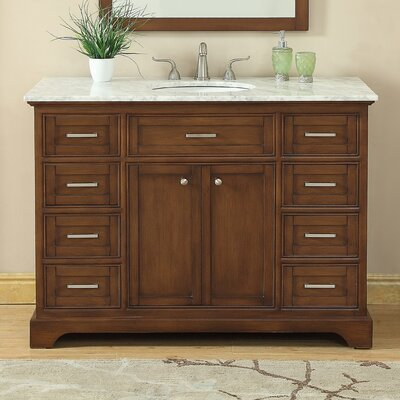 Darry 48 Single Bathroom Vanity Set Base Finish: Teak
