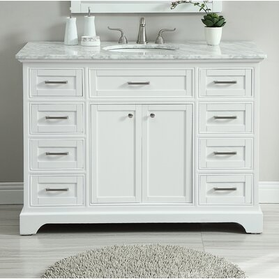 Darry 48 Single Bathroom Vanity Set Base Finish: White
