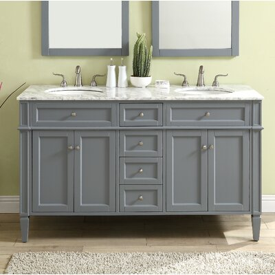 Bedonia 60 Double Bathroom Vanity Set Base Finish: Gray