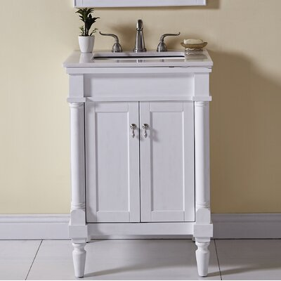 Deina 24 Single Bathroom Vanity Set Base Finish: Antique White