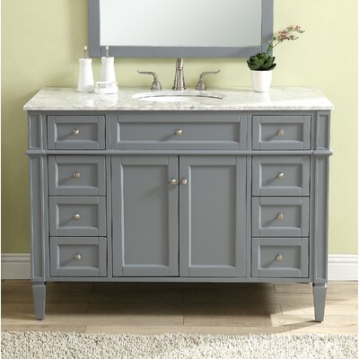 Bedonia 48 Single Bathroom Vanity Set Base Finish: Gray