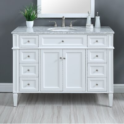 Bedonia 48 Single Bathroom Vanity Set Base Finish: White