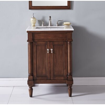 Deina 24 Single Bathroom Vanity Set Base Finish: Walnut
