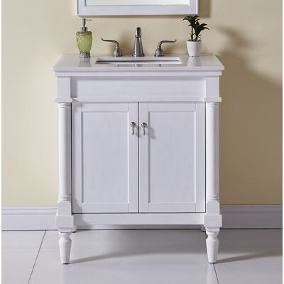 Deina 30 Single Bathroom Vanity Set Base Finish: Antique White
