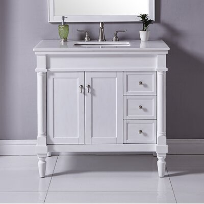 Deina 36 Single Bathroom Vanity Set Base Finish: Antique White