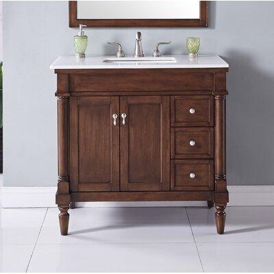 Deina 36 Single Bathroom Vanity Set Base Finish: Walnut