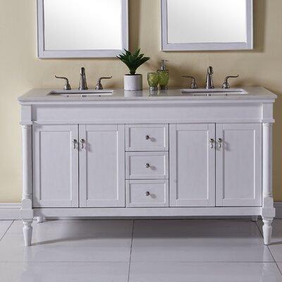 Deina 60 Single Bathroom Vanity Set Base Finish: Antique White