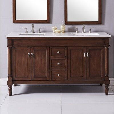 Deina 60 Single Bathroom Vanity Set Base Finish: Walnut