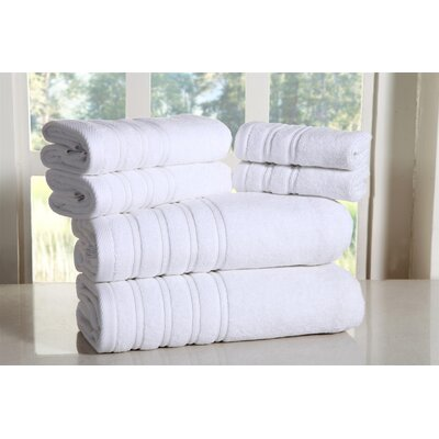 Cora 100% Ringspun Cotton Towel Set Color: White