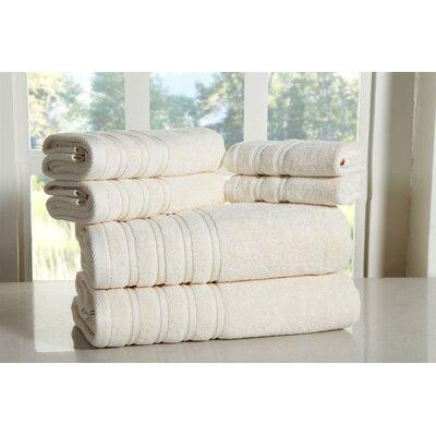 Cora 100% Ringspun Cotton Towel Set Color: Ivory