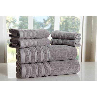 Cora 100% Ringspun Cotton Towel Set Color: Silver