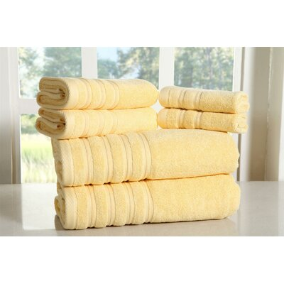 Cora 100% Ringspun Cotton Towel Set Color: Yellow