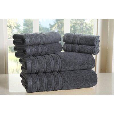 Cora 100% Ringspun Cotton Towel Set Color: Graphite