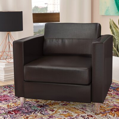 Desma Club Chair Upholstery: Black