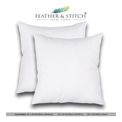 Hypoallergenic Cushion Outdoor Pillow Insert Size: 20 x 20