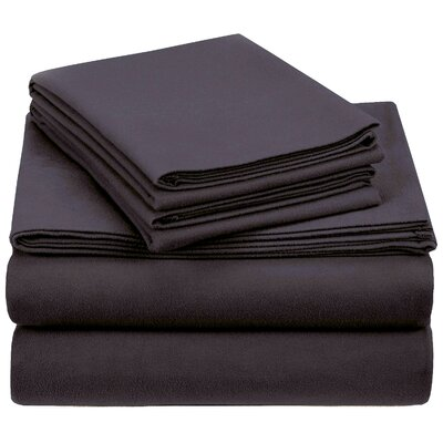 Crossen 100% Cotton Sheet Set Size: Twin, Color: Dark Gray