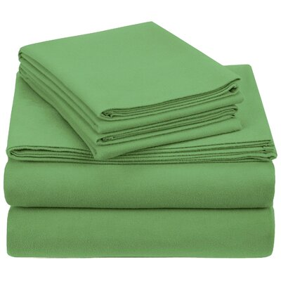 Crossen 100% Cotton Sheet Set Size: King, Color: Aspen Green