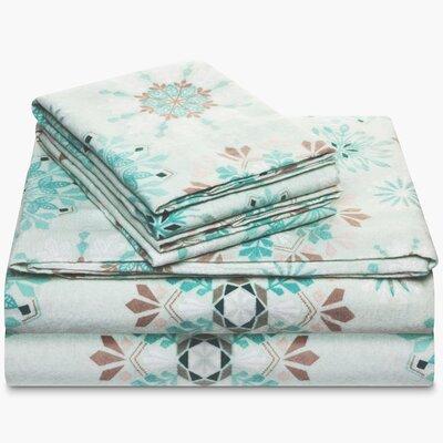 Wojciechowski Fancy Flannel 100% Cotton Sheet Set Size: Twin