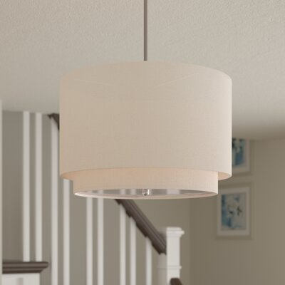 Cataldo 3-Light Drum Pendant Finish: Ivory