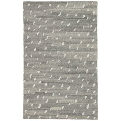 Kate Spade New York by Jaipur Living Ermine Spot Handmade Dots Gray Area Rug Rug Size: Rectangle 9 x 12