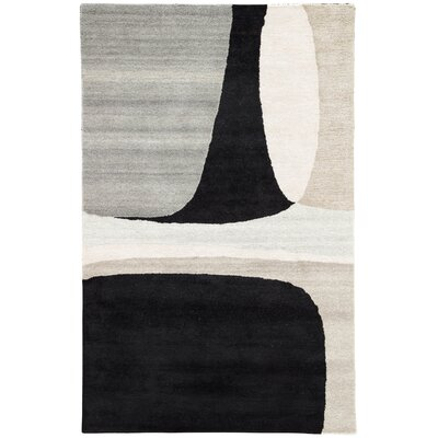 Kate Spade New York by Jaipur Living Curvy Colorblock Handmade Abstract Gray/Black Area Rug Rug Size: Rectangle 8 x 10