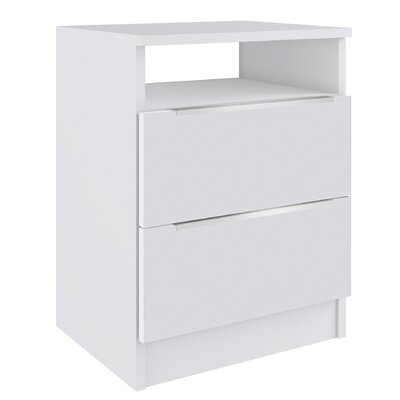 Westley 2 Drawer Nightstand with Open Shelf