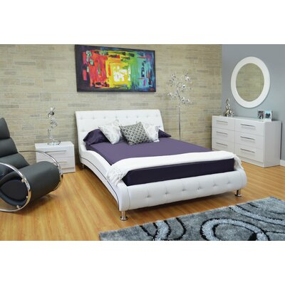 Haskett Upholstered Platform Bed Size: Queen
