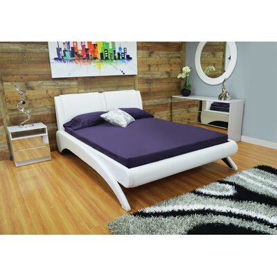 Westerman Arched Leg Queen Upholstered Platform Bed