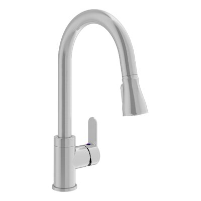 Identity Pull Down Touch Single Handle Kitchen Faucet Finish: Stainless Steel