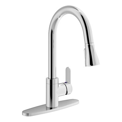 Identity Pull Down Touch Single Handle Kitchen Faucet Finish: Chrome