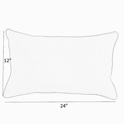 Coyan Sunbrella Peyton Granite Outdoor Lumbar Pillow Size: 12 x 24