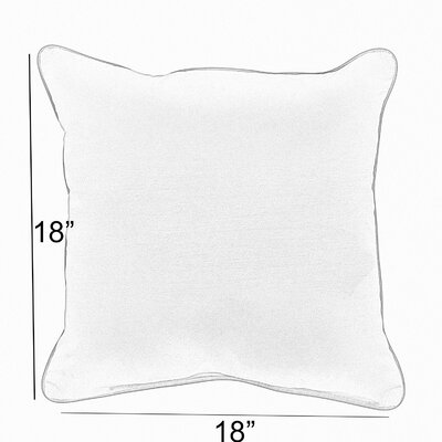 Diorio Indoor/Outdoor Throw Pillow Size: 18 x 18